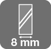 Espesor cristal seguridad 8mm
